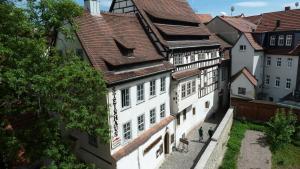 Blick auf Ferienwohnung am Erfurter Dom aus der Vogelperspektive