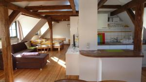 Küche/Küchenzeile in der Unterkunft Ferienwohnung am Erfurter Dom