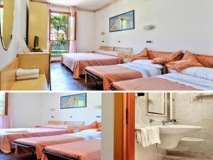 Кровать или кровати в номере Albergo Bice