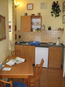 Küche/Küchenzeile in der Unterkunft Zderaz