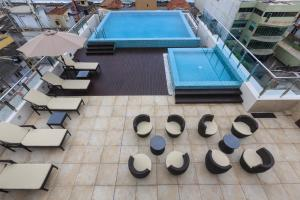 A view of the pool at Renuka City Hotel or nearby