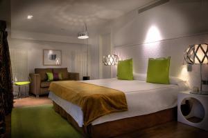Cama o camas de una habitación en San Ramón del Somontano