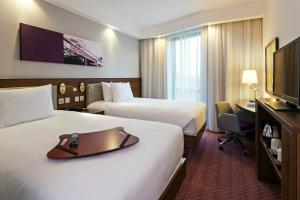 A bed or beds in a room at Hampton by Hilton London Waterloo