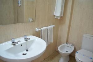 Een badkamer bij Linda