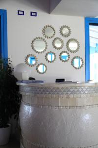 The lobby or reception area at Hotel Gran Torre