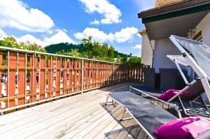 A balcony or terrace at Zur Steirerstub'n