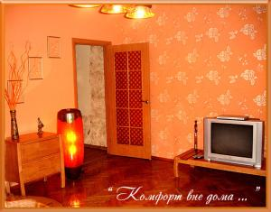 A television and/or entertainment center at Apartments Zatyshok