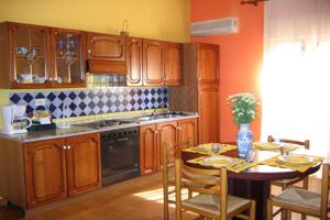 A kitchen or kitchenette at Holiday home Lolita's