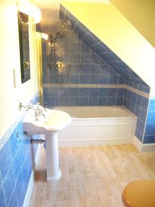 A bathroom at CENTRAL Calton Hill What a view