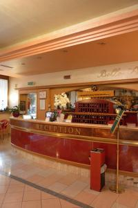 The lobby or reception area at Hotel Belle Arti
