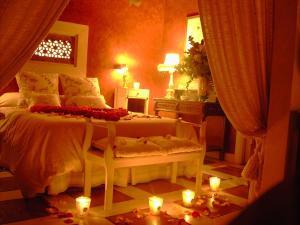 Cama o camas de una habitación en La Posada de Tamajon