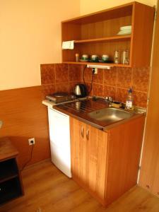 Kuchyň nebo kuchyňský kout v ubytování Privat AVE