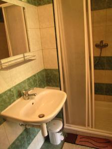 Koupelna v ubytování Privat AVE