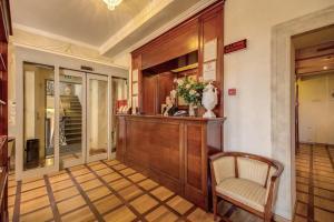 O saguão ou recepção de Hotel Bigallo
