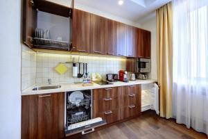Кухня или мини-кухня в Апарт-Отель Южный