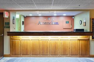 The lobby or reception area at AmericInn by Wyndham Valley City Conference Center