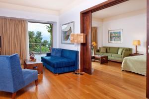 A seating area at Kontokali Bay Resort & Spa
