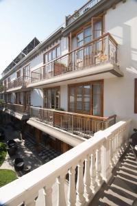 A balcony or terrace at Hotel Loreto