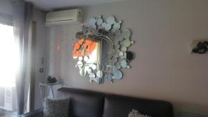 A seating area at One Bedroom Lacour 249