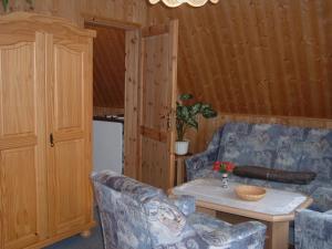 Ein Sitzbereich in der Unterkunft Ferienpark Rosstrappe