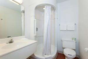 A bathroom at Motel 6-Turlock, CA