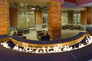 A porch or other outdoor area at Courtyard by Marriott Buffalo Downtown/Canalside
