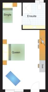 The floor plan of Cardiff Motor Inn