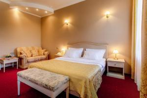 Cama o camas de una habitación en Hotel Kupechesky