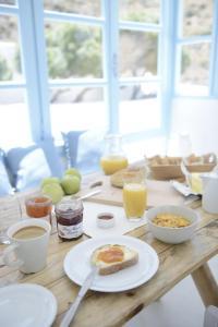 Options de petit-déjeuner proposées aux clients de l'établissement Villa Maria Rooms