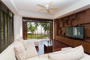 A seating area at Amatapura Beachfront Villa 12, SHA Certified