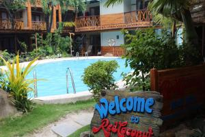 The swimming pool at or near Red Coconut Beach Hotel Boracay