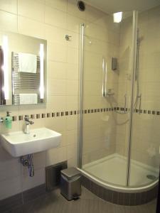 Koupelna v ubytování Pension La Campagna