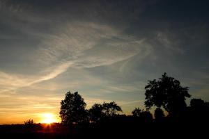Wschód lub zachód słońca widziany z tej kwatery prywatnej