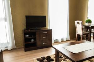 Televízia a/alebo spoločenská miestnosť v ubytovaní La Pension