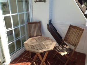Ein Balkon oder eine Terrasse in der Unterkunft Haus Elvi Fuchs an den alten Salzwiesen