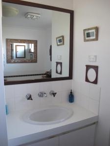A bathroom at Layton Street Apartments