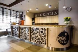 The lobby or reception area at Hotel ***NAT Świnoujście