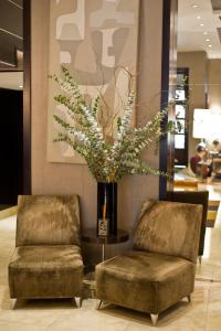 The lobby or reception area at Bentley Hotel