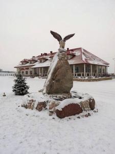 Obiekt Zajazd Sokół zimą