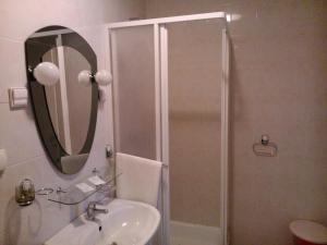 A bathroom at Hotel Refleks