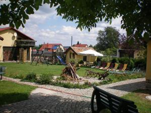 Children's play area at Landhotel Heidekrug