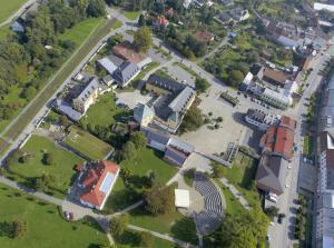 Hotel Zámek Velká Bystřice с высоты птичьего полета