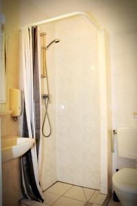 A bathroom at Hotel Dupuis