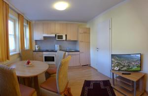 Kuchyň nebo kuchyňský kout v ubytování Villa Florl