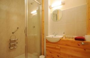 A bathroom at Lough Dan House