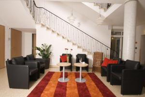 A seating area at Hotel Haus vom Guten Hirten