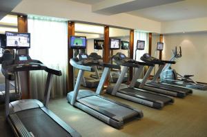 Das Fitnesscenter und/oder die Fitnesseinrichtungen in der Unterkunft Harriway Garden Hotel