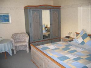 Een bed of bedden in een kamer bij Ferienwohnungen Hasenpatt
