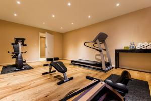 Das Fitnesscenter und/oder die Fitnesseinrichtungen in der Unterkunft Hotel zum Taufstein