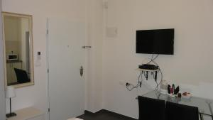 A television and/or entertainment center at City Center Apartments